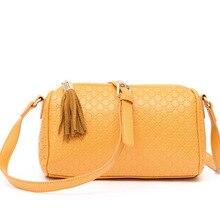 Female package 2016 new fresh han edition leisure shoulder inclined candy color bag bag, tassels handbag
