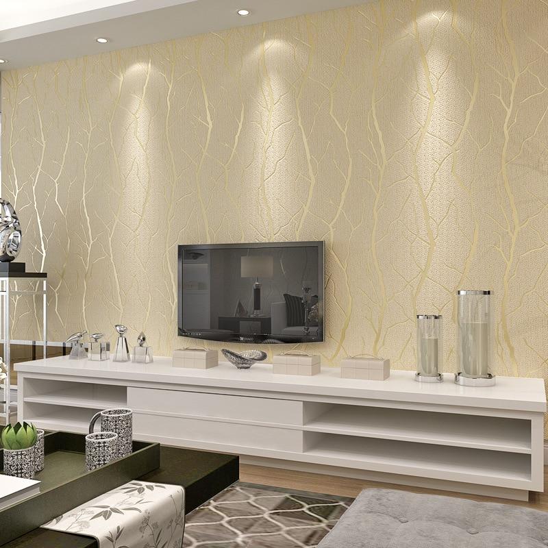 Aliexpress Buy European 3d Embossed Grey Wallpaper Birch Tree