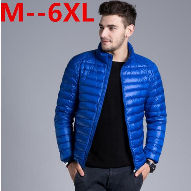 9XL 8XL 6XL 5XL 4XL Otoño Invierno Chaqueta de Plumón de Pato, Ultra Delgado y Ligero más tamaño chaqueta de invierno para los hombres de Moda para hombre Prendas de abrigo