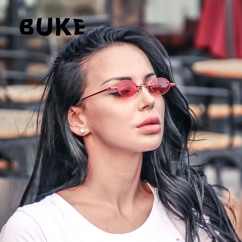 BUKE Luxury Vintage Oval Sunglasses