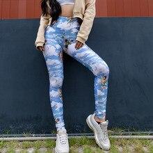Леггинсы для йоги женские с высокой талией для йоги брюки для фитнеса спортивные Леггинсы Ангел Амура печати Бесшовные Леггинсы# XTN