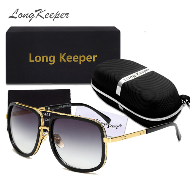 648187cf3c5 Hot Fashion Men s Mirror Sunglasses with Case Box Women Square Driving Sun  Glasses UV400 Travel Goggles Gafas De Sol