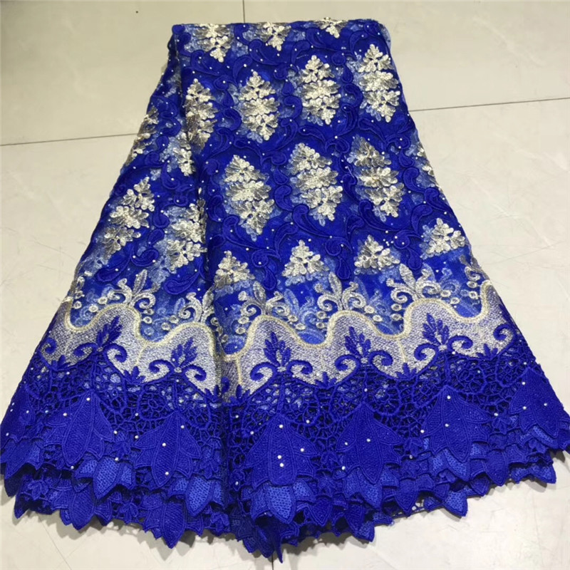 New Design African Lace Fabric 2019 High Quality Milk Silk Applique Lace Stones French Net Tulle