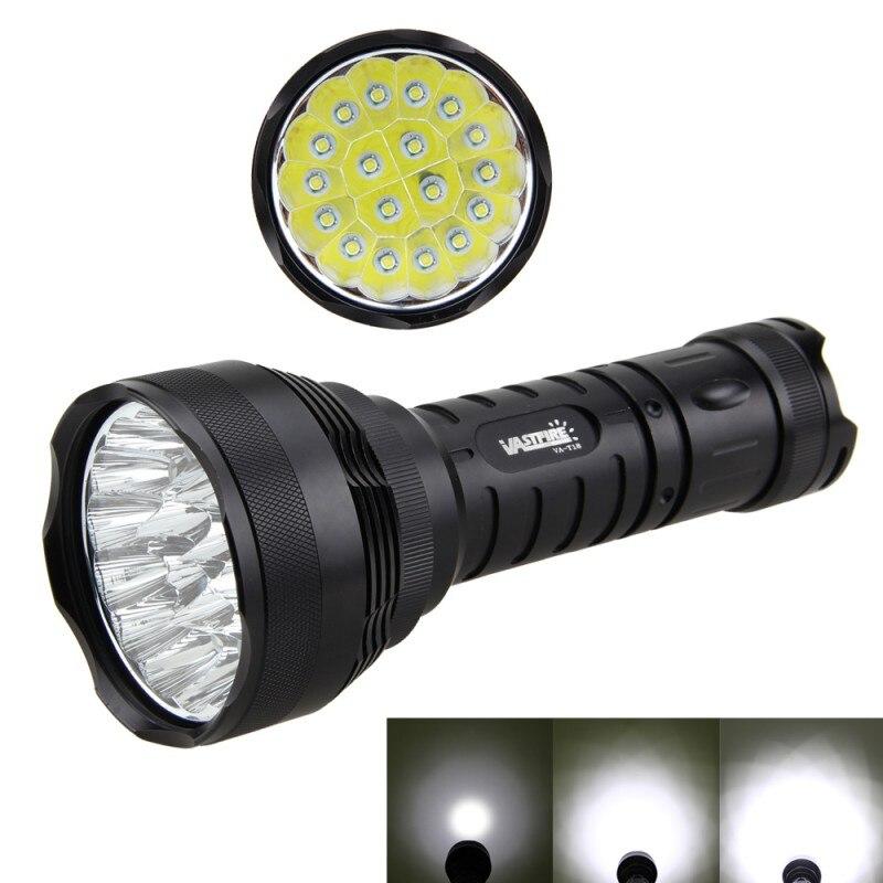 5000LM XM-L LED 18x T6 LED Super Lumineux de Camping lampe de Poche Lampe Torche Chasse Lumière par 26650/18650 Batery