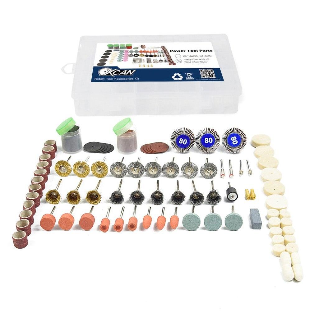 145pcs Rotary Power Tool Cutting Disc Mandrels Sanding Drum Drill Grinder Polishing Kit Multifunction Wood Work Repairing Tool