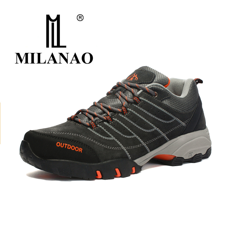2017 MILANAO Hiking Shoes Man Outdoor Sneakers Sports Shoes Non-slip hard wearing Suede shoes for Men Profession hiking shoes цены онлайн