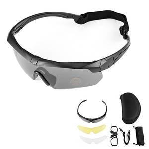 0b44ee6787f Polarized Military Tactical Glasses UV Sunglasses 3 Lens Eyewear