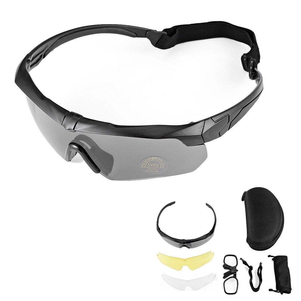 db031d2dd1a98 Óculos de Sol Óculos de Lente Óculos de Tiro Óculos de Proteção Óculos de  Ciclismo Óculos uv 3 Polarizada Tático Militar Airsoft da Motocicleta