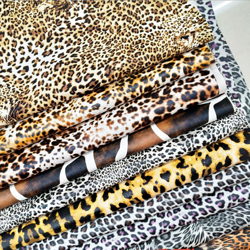 20X30cm thick PU Faux Leopard print Leather Fabric For Sewing DIY,Bag ,Shoes ,patchwork Material fabric A99