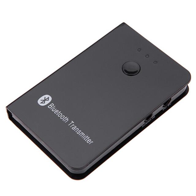 Mini 3.5mm A2DP Bluetooth Audio Música Transmisor para Tablet PC Portátil negro