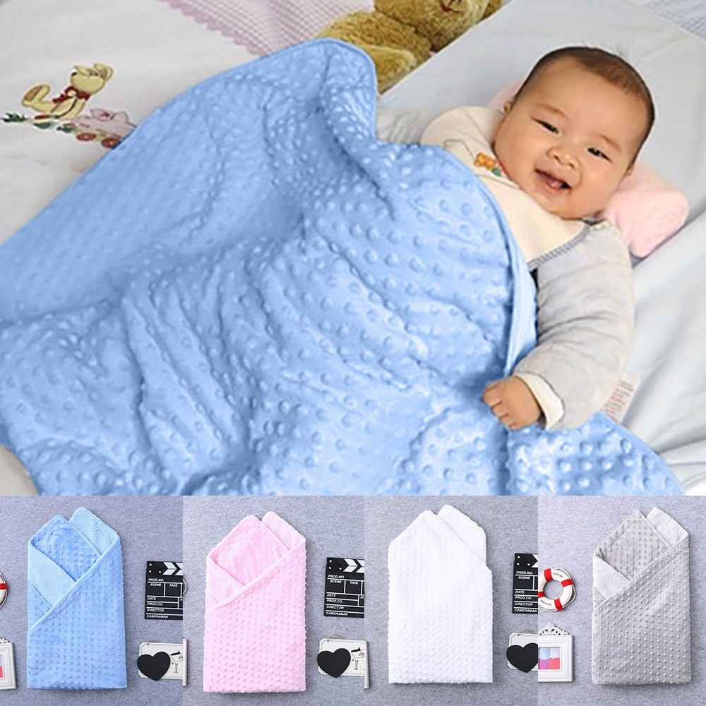 Newborn Baby Blanket Warm Fleece Stroller Cover Quilt Swaddling Bedding Great For Casual Or Photoshoot High Quality Koc Dziecka