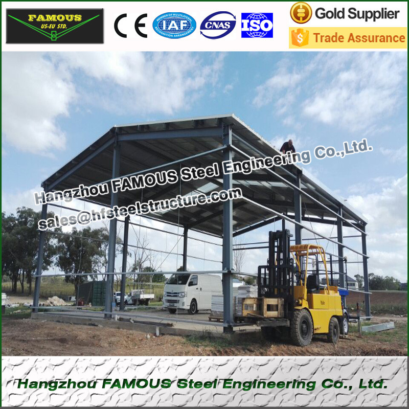 Hot Galvanizing Steel Structure Fabrication For Indutrial  Plant