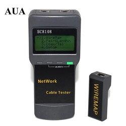 SC8108 Portátil LCD Rede Tester Medidor & RJ45 LAN Telefone Tester Cable & Medidor Com Display LCD Frete Grátis