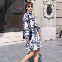 Women's Dresses Japanese Harajuku Ulzzang Mesh Splicing Double Collar Wool Dress Female Korean Kawaii Cute Clothes For Women