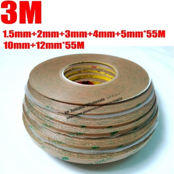 7 Roll (1.5mm/2mm/3mm/4mm/5mm/10mm/12mm) Super Strong Adhesion 3M 9495LE Tape for iphone 4 5 ipad Tablet Screen Display Digitzer