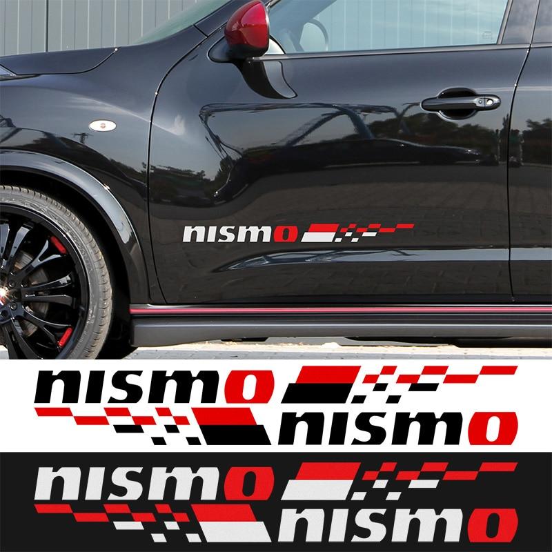 1 Pair NISMO Car Door Stickers decal Car-Styling For Nissan qashqai juke almera x-trail tiida car accessories