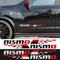 1 Pair NISMO Car Door Stickers decal Car-Styling For Nissan qashqai juke almera x-trail tiida car accessories