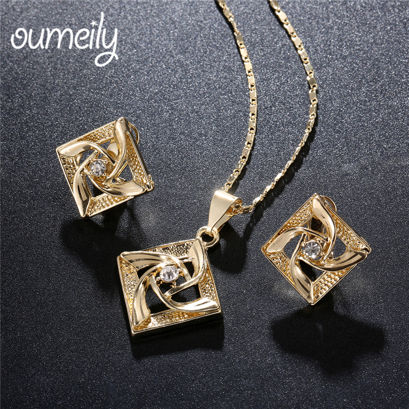 OUMEILY Dubai Gold Color Jewelry Sets for Women Bridal African Beads Jewelry Set 2018 Nige