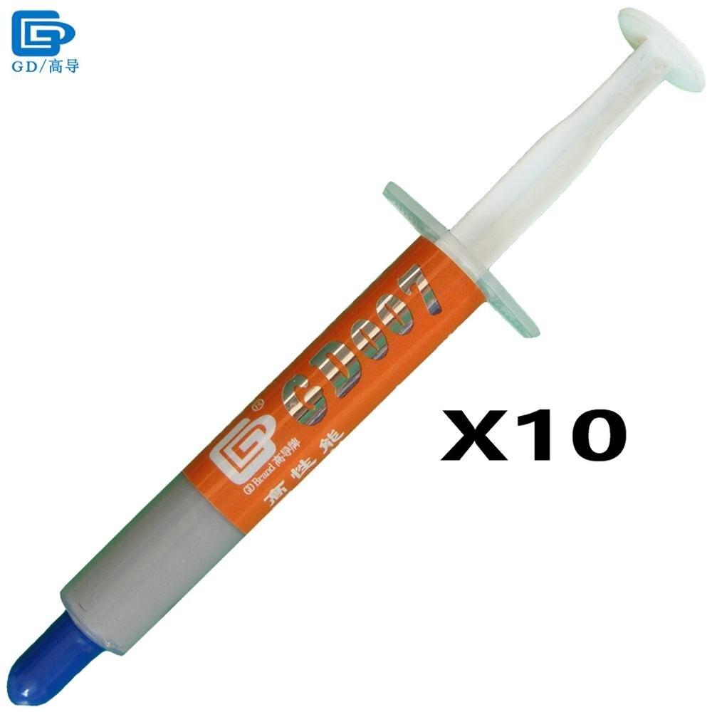 GD007 Siltuma izlietnes savienojuma termiskā taukvielu pasta Silikona apmetums 10 gab. Neto svars 3 grami pelēks augstākās klases sudrabs SY3