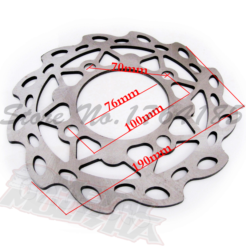 190mm  steel dirt bike disc rotor Front brake disc for 110cc/125cc Pit bike parts Cheap Mini motocross brake rotor rockbros titanium ti bike bicycle disc brake rotor bolt m8 x 20mm t40 12pcs bolts screws