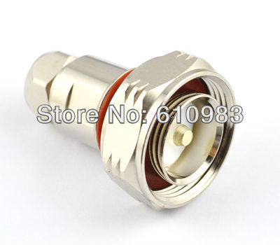 цена на 7/16 Din Clamp Plug RF coaxial connector for Corrugated copper 1/2''cable