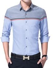 2016  New Men Shirt Male Shirts Men's Fashion Casual Long Sleeve Business Formal Shirt camisa social masculina plus size M-3XL