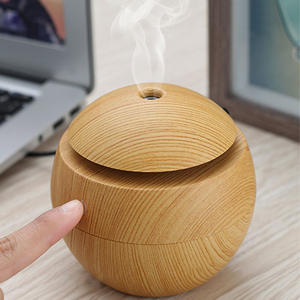 130ML USB Aroma Humidifier Essential Oil Diffuser Ultrasonic Cool Mist Humidifier Air Purifier 7 Color Change LED