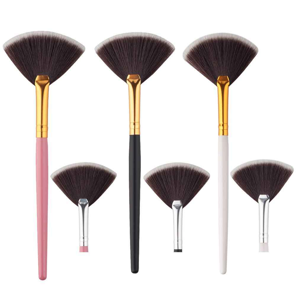 makeup brushes set professional with natural hair Fan Brush Portable Slim 1PCS Beauty Black pinceis de maquiagem profissional