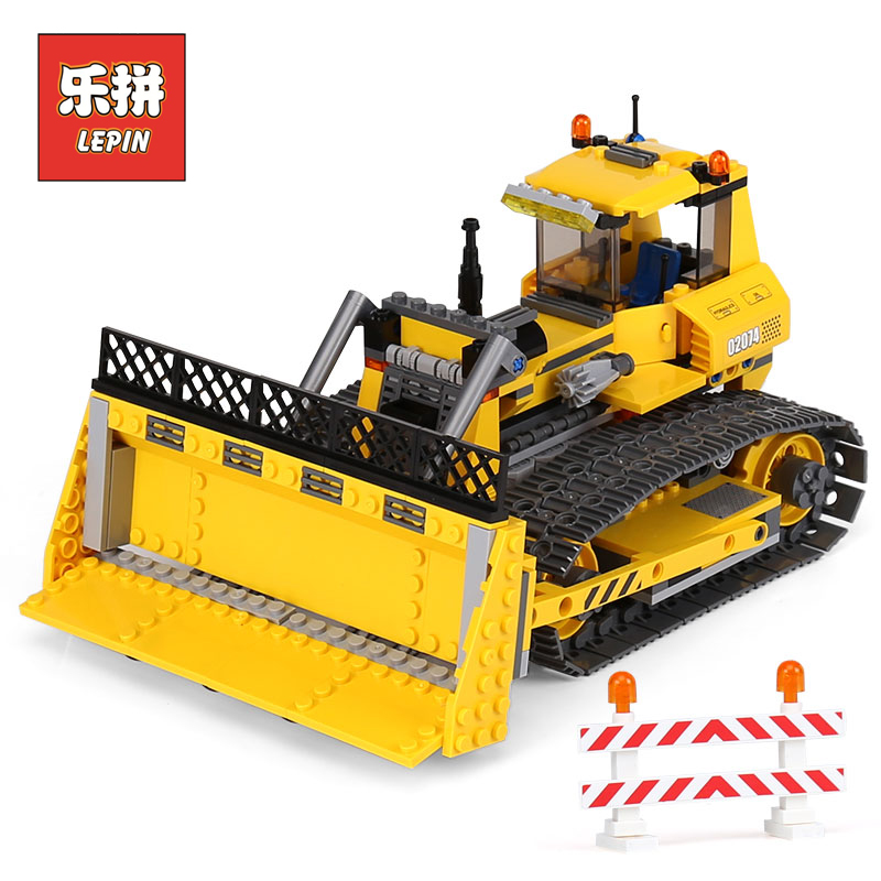 Lepin 02074 City Series the Small Dozer Set 7685 DIY Model Building Blocks Bricks Educational Toy children Gift Lepin City building blocks stick diy lepin toy plastic intelligence magic sticks toy creativity educational learningtoys for children gift page 5