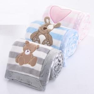 Image 4 - High Quality Baby Blanket Infant Bebe Thicken Flannel Swaddle Envelope Stroller Cartoon Blanket Newborn Baby Bedding Blankets