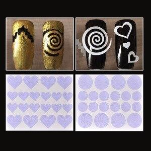 Image 2 - Biutee 12 יח\סט נייל אמנות מדריך טיפים הולו שבלונות מדבקת צרפתית מניקור תבנית 3D ויניל מדבקות טופס סטיילינג כלי