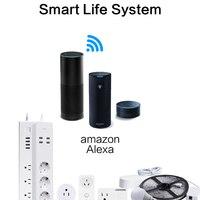 Wifi اللاسلكية التحكم عن قطاع قابس الطاقة مقبس المنزل الذكي eu 3 ac المقبس 4 منافذ usb العمل ل الكسا