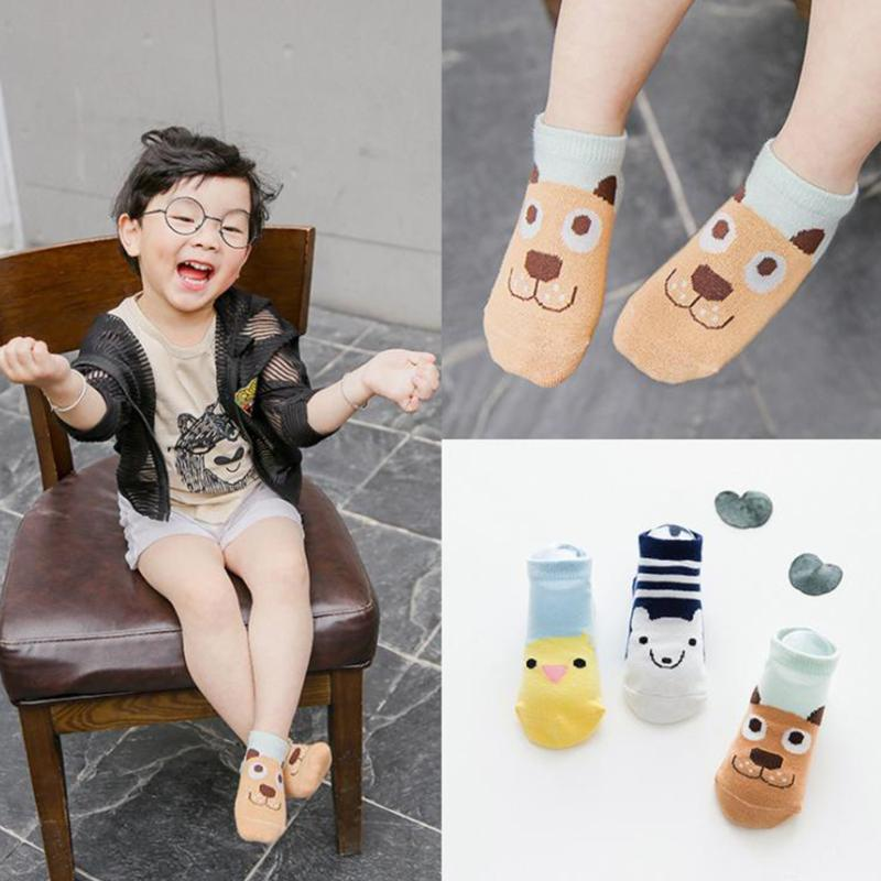 3pairs Baby newborn Pure cotton socks baby Animal stock cartoon floor sale children socks baby girl and boy cotton socks