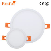 hot deal buy eco cat ultra thin led panel downlight 5w 8w 16w 22w 30w 110v 220v round led ceiling recessed lights power supply included