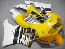 Kit carenagem da motocicleta para honda cbr900rr 919 98 99 cbr 900rr cbr900 1998 1999 abs amarelo branco carenagens conjunto + 7 presentes hg09