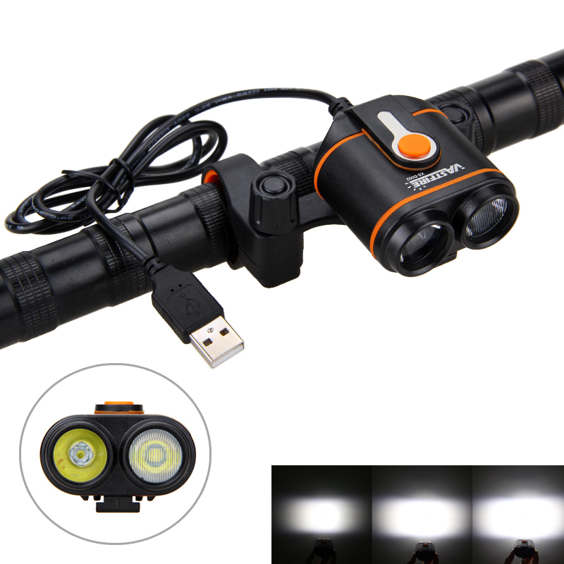 10000LM USB Port Bike Lamp 2X XM-L2 LED Front Handlebar Bicycle Light 4 Modes MTB Riding Light For Outdoor Cycling No Battery