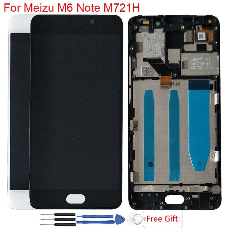 "LCD Original 5,5 ""Meizu M6 Note LCD pantalla táctil con marco digitalizador montaje para Meizu Meilan Note 6 M721H M721Q LCD"