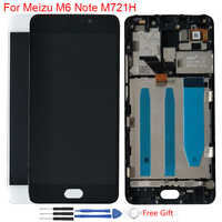 """Original LCD 5,5 """"Meizu M6 Note LCD Display Touch Screen Mit Rahmen Digitizer Montage Für Meizu Meilan Hinweis 6 m721H M721Q LCD"""