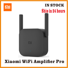 Xiaomi pro 300m wi fi amplificador repetidor 2.4g wi fi extensor de sinal roteador app controle wi fi extensor amplificador preto