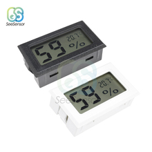 цена на Mini Digital LCD Temperature Humidity Sensor Gauge Instruments Indoor Room Humidity Meter Thermometer Hygrometer White/Black