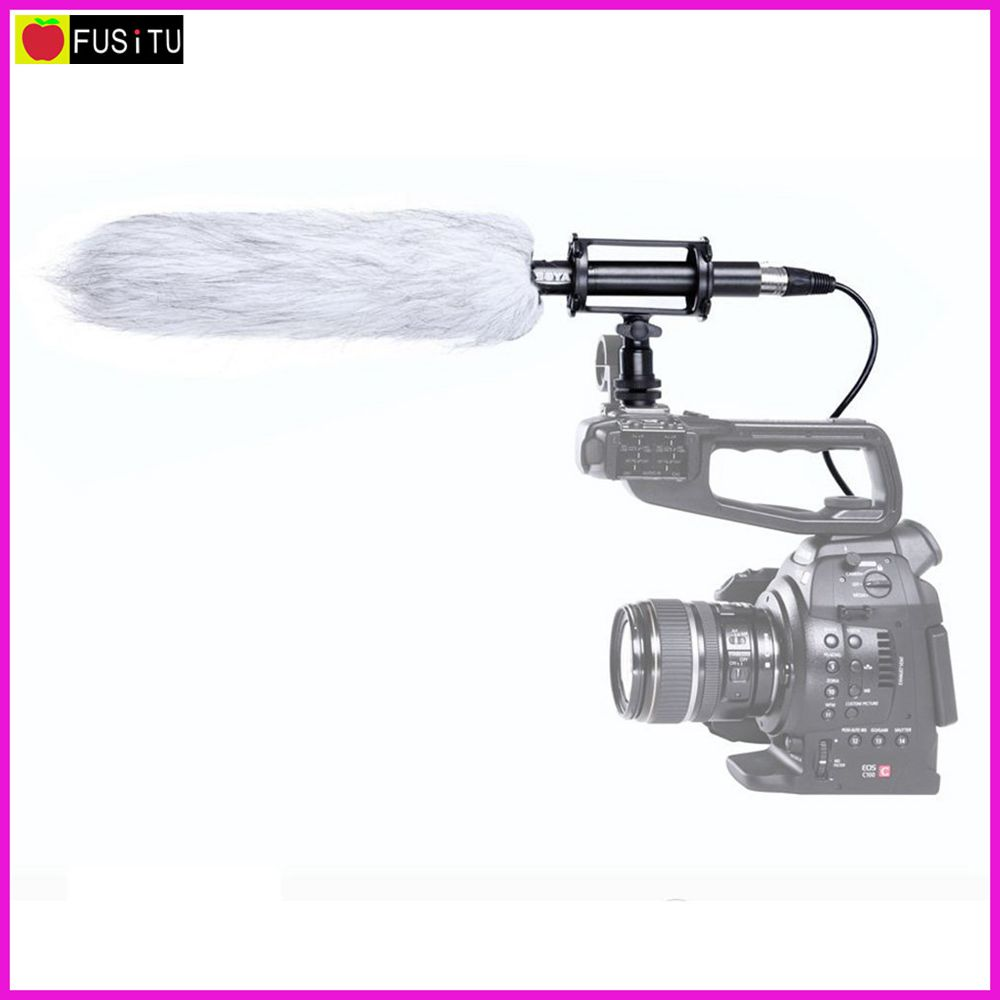 Boya BY-PVM1000L Pro Condenser Shotgun Microphone Video Camera Microphone with Foam Windscreen Shock Mount