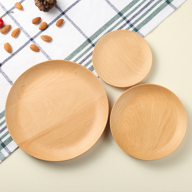 Soup Plate High Quality Tableware Durable Dish Bowls bamboo saucer fruit plate Round Creative dessert snack & Soup Plate High Quality Tableware Durable Dish Bowls bamboo saucer ...