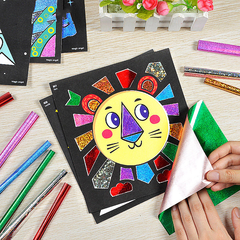 15/pcs Cute Fairy Tale Style DIY Magic Transfer Sticker Transfer Painting  Crafts For Kids  Arts And Crafts  Toys For Children