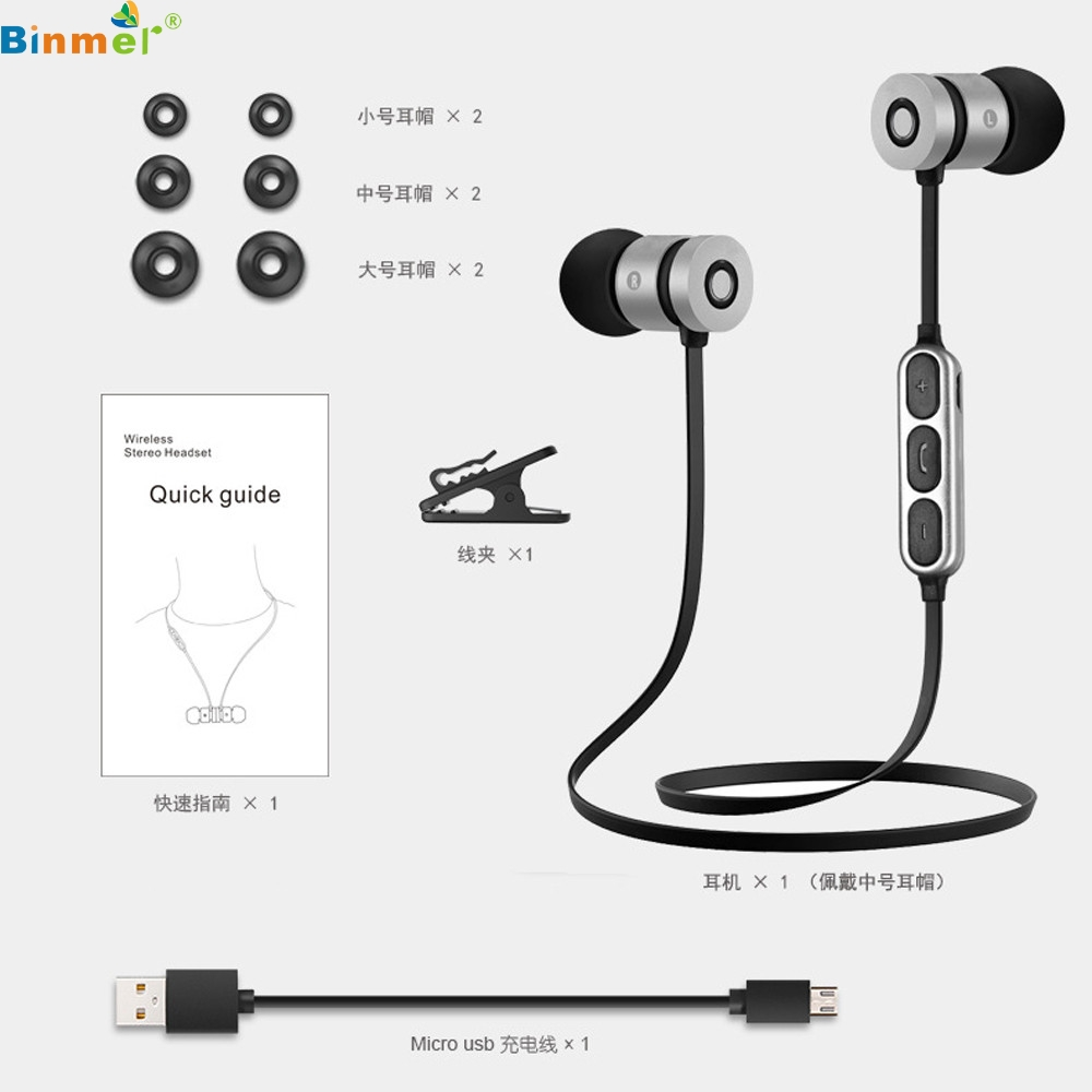 Voice Control Bluetooth 4.2 Wireless Running Sport Headset GYM Stereo Earphone Earbud Headphones for iPhone 6 for Samsung mar16 remax 2 in1 mini bluetooth 4 0 headphones usb car charger dock wireless car headset bluetooth earphone for iphone 7 6s android