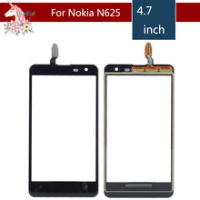 10pcs/lot 4.7 For Nokia Lumia 625 N625 LCD Touch Screen Digitizer Sensor Outer Glass Lens Panel Replacement чехол для для мобильных телефонов nokia lumia 625 n625 py um234