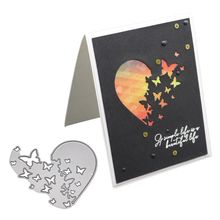 Heart Butterfly Metal Cutting Dies Stencil DIY Scrapbooking Album Stamp Paper Card Embossing Craft Decor цена