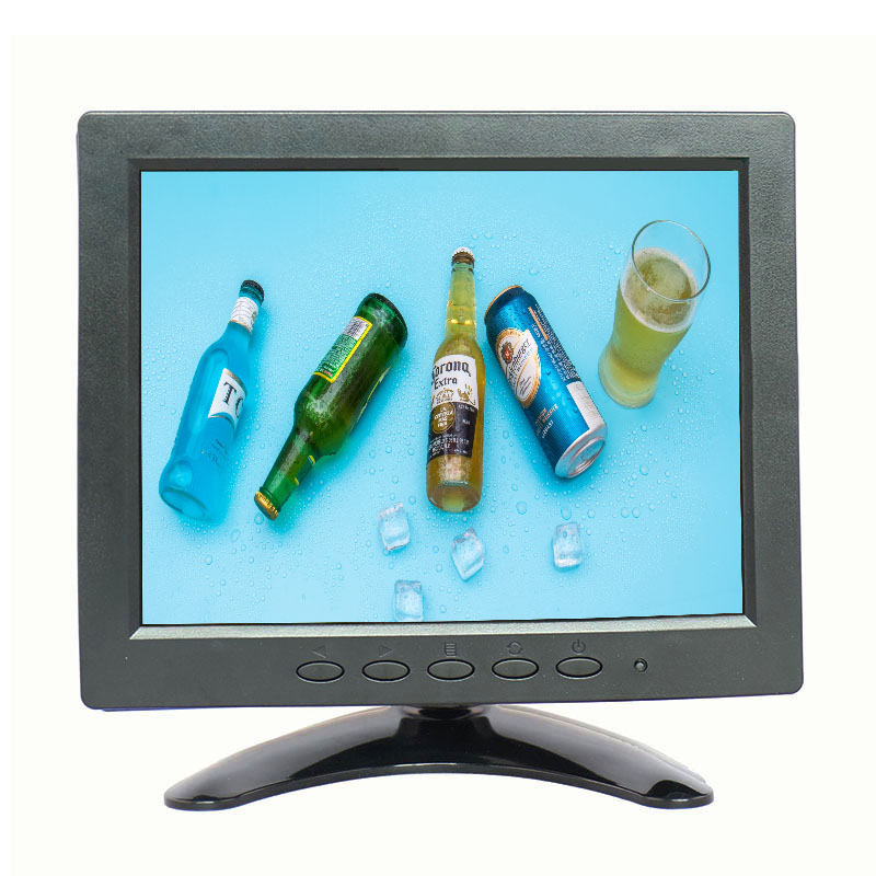 Zhixianda 8 inch TFT LCD Color Video Monitor CCTV Monitor Screen for PC CCTV Security Remote with AV/BNC/VGA/HDMI/USB input