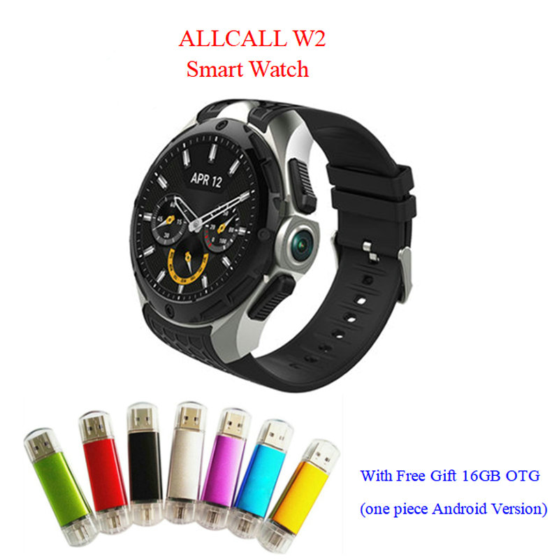 Smartwatch 3G GPS waterproof Heart rate monitor smart watch android Call Message Speaker smart electronics ALLCALL W2 pk q7 KW88