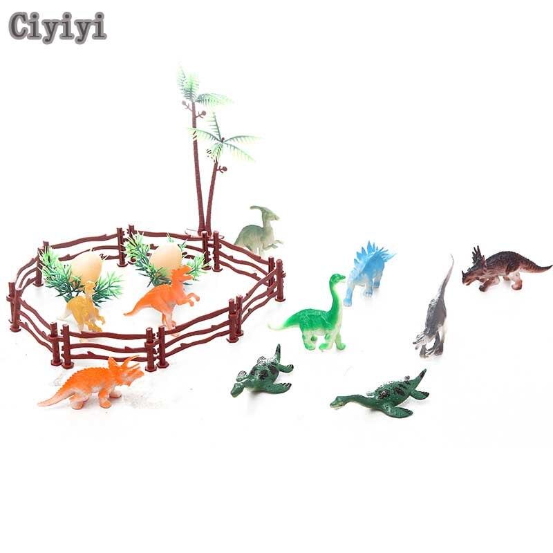 Мир Юрского периода мини милым динозавром Коллекция игрушек мир динозавров PVCH Дисплей модель Жуэ детский день рождения игры Brinquedos ...