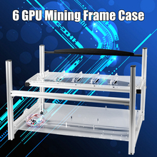 New Open Air Aluminum Case 6 GPU Crypto Currency Mining Rig Frame Case Server Chassis